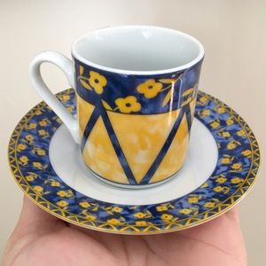 Beautiful Amsterdam Demitasse Cup and Saucer